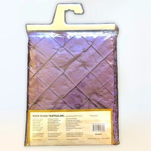 72x72 Plum shower curtain upper beaded tassels